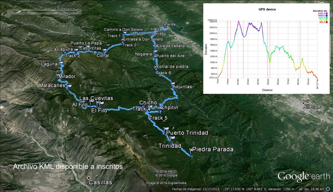 Mapa topogrfico de Voluntarios para Carreras Oso Negro